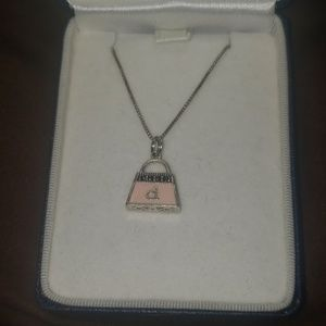 Sterling silver necklace w/ purse charm